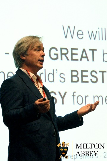 Entrepreneur in Residence Nick Wheeler visits Milton Abbey