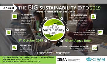 Doors open soon on the 4th The Big Sustainability Expo (Southampton) 2019