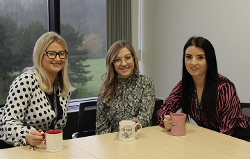 Pictured L to R: Solent LEP Apprentices Josie Worsfold, Sophie Taylor, and Storm Wilson