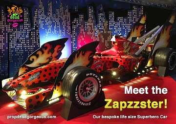 The Zapzzster - a full size superhero car!