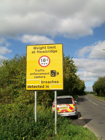 Newbridge  A415 breaches sign