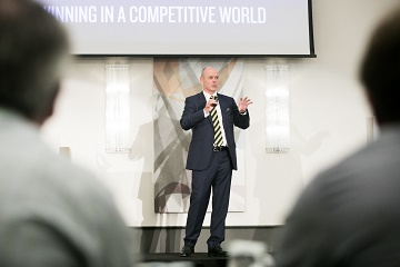 Sir Clive Woodward OBE, speaker at the annual Business Leaders Lecture in Southampton, hosted by Rothmans Accountants