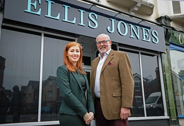 Nigel Smith, Managing Partner, at Ellis Jones Solicitors with Associate Solicitor Clair Phillips