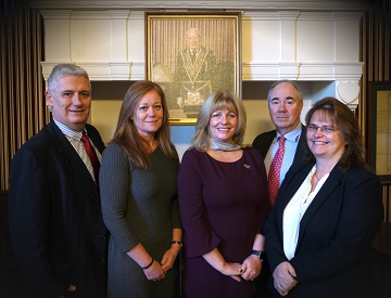 (From left to right) Harold G Walker's Partners; Simon Nethercott, Cath Porter, Nicola Lowe, Hugh Storry Deans and Gaynor Cooke.