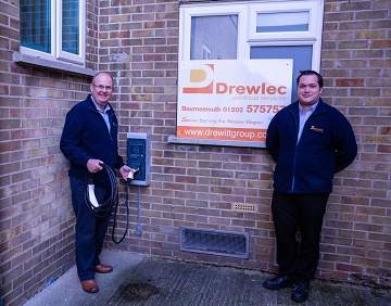 Drewlec now offers electric car charging point installation
