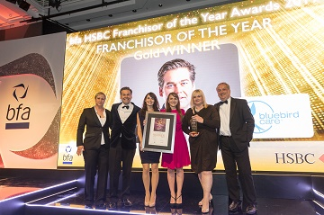 Bluebird Care was named bfa HSBC Franchisor of the Year 2017