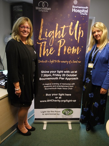 (From left to right) Nicola Lowe, Managing Partner of Harold G Walker Solicitors and Maria Tidy, Senior Corporate Fundraiser at Bournemouth Hospital Charity.