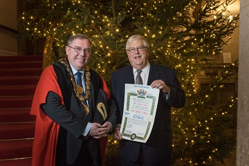 Mayor of Salisbury Cllr John Lindley and Mr Robert Key