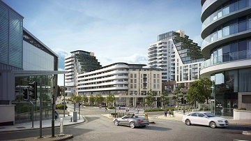 The proposed Winter Gardens scheme, viewed from Exeter Road. Image courtesy of BrightSpace Architects.