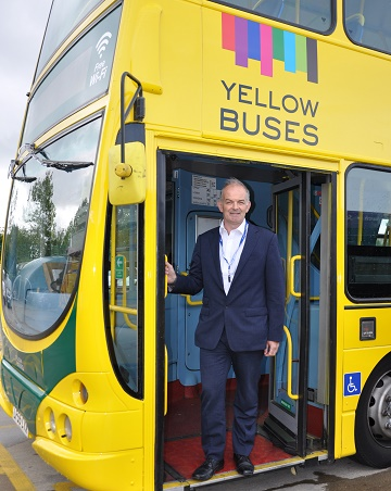 JUST THE TICKET: Noel Smith has been appointed as Financial Director by Yellow Buses