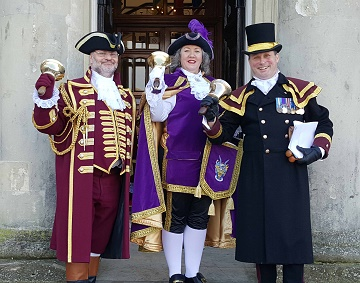 Town Criers visit Salisbury to help promote the search for the new Salisbury Town Crier!