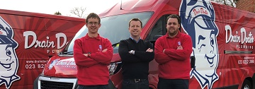 James Light new Drain Doctor Southampton franchise owner with this team of technicians
