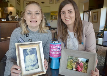 (from left) Harriet St Ledger and Emma Driver are fundraising for the Alzheimer