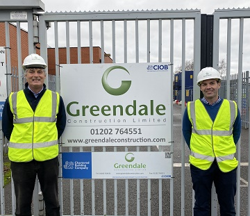 L-R_Rob Hooker, Director, Greendale Construction Ltd; Luke Hillier, Quantity Surveyor / Contracts Manager, Greendale Construction Ltd