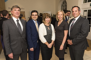 Partners celebrate success at annual Christmas event; from left to right: Alan Horne, Jerome Dodge, Lisa Holden, Sarah Heath and Paul Dunlop