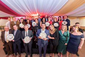The winners of the 2019 Hall  Woodhouse Business Partnerships Awards