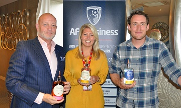 Tasting the Bournemouth-produced Conker Spirit at AFC Business