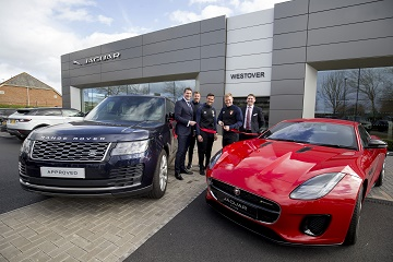 AFC Bournemouth officially open the new Westover Jaguar Land Rover showroom