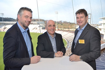(From left) Justin Galloway Acheson Construction Ltd, Nick Groves of WFBA, David Ardley from Gleeds.