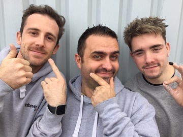 (left to right) Scott Garry, Leigh Williams and Max Bird of Christchurch-based Above All C6(n), are growing moustaches as part of this month's, global Movember campaign.