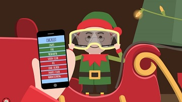 A still from the special animation created by Highways England highlighting the need to make sure you have good visibility in your vehicle before setting off this Christmas.