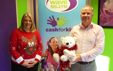 Samantha Tanner Cash for Kids charity manager and Simon Pitman Shorefield