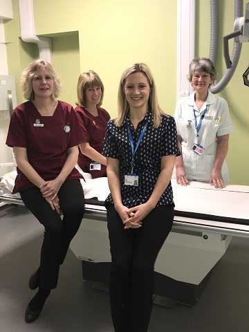 The Swanage Hospital radiology team. L – R Angela Holmes, Karyn Hunt, Helen Hogg and Angela Barrow