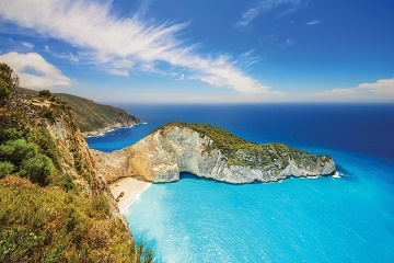 Greek island of Zante in the Ionian Sea