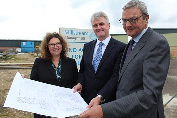 (L-R) Theresa Weir, Head of HR; Simon Crewe, Managing Director; Dave Ryder, Operations Director