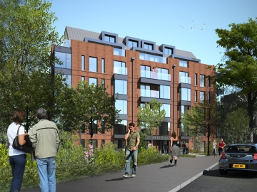 The £13 million Durley Road scheme includes 44 apartments and residents' parking. Image courtesy of HGP Architects.