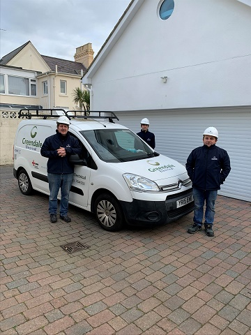 The Greendale Electrical Team from L-R_Rob Vella, electrical manager; Jake Barton, first year electrical apprentice; Andy Sokol, electrician.