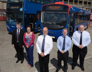 (L-R)  Mark Keighley, Nikki Honer,  Andrew Wickham,  Ed Wills and Paul Coyne.