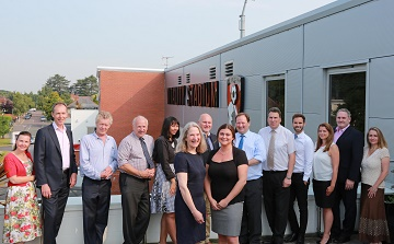 Partners in the Dorset Business Growth Programme gather at AFC Bournemouth