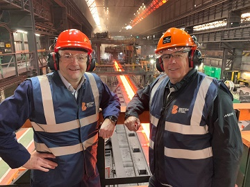 British Steel commercial director for construction Ben Cunliffe and REIDsteel managing director Simon Boyd