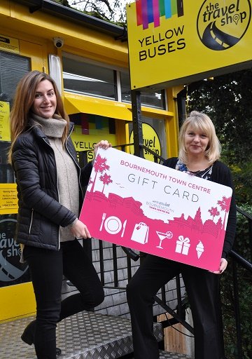 Lucinda Ackerley from Bournemouth Town Centre BID and Fiona Harwood of Yellow Buses