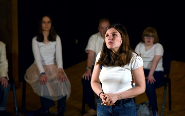Emily performs during a showcase by the Hanger Farm Community Theatre at Hanger Farm Arts Centre in Totton.