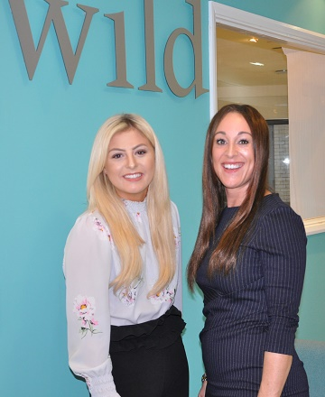 Emily Robinson, who runs the driving division, and Kate Foley, manager of Wild Recruitment in Poole